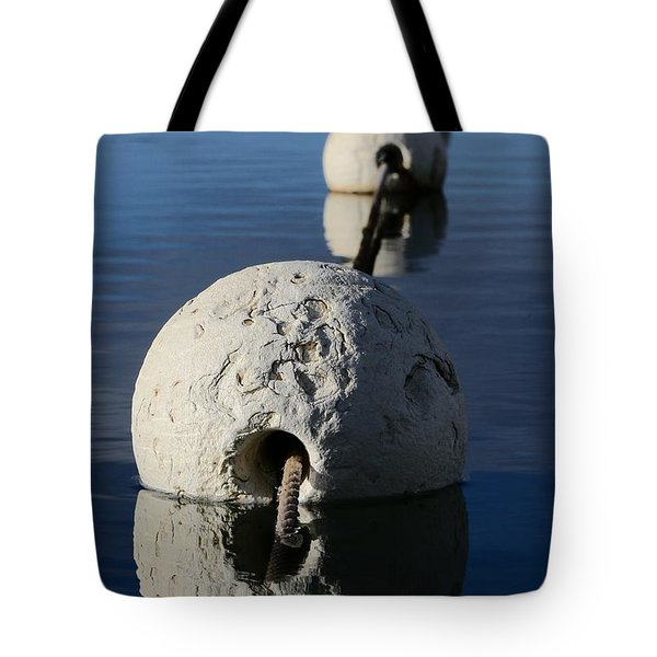 Tote Bag featuring the photograph Buoy In Detail by Stephen Mitchell