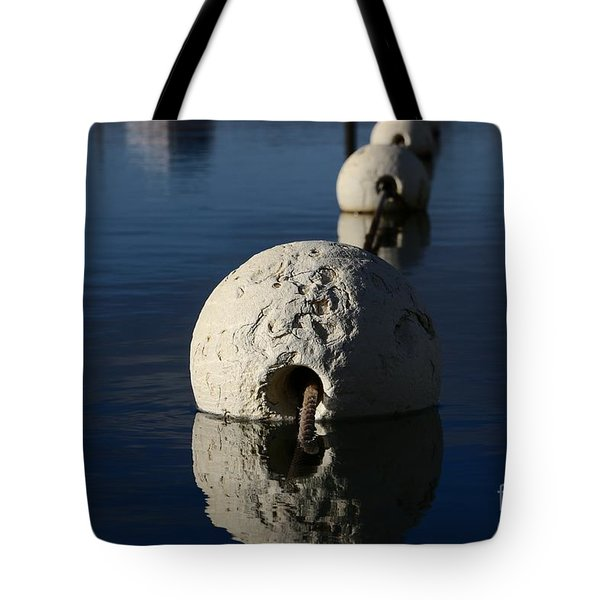 Tote Bag featuring the photograph Buoy Upfront by Stephen Mitchell