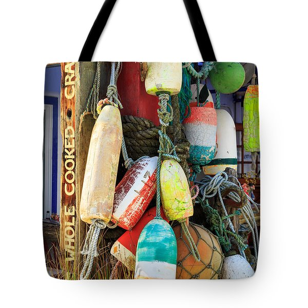 Buoys At The Crab Shack Tote Bag