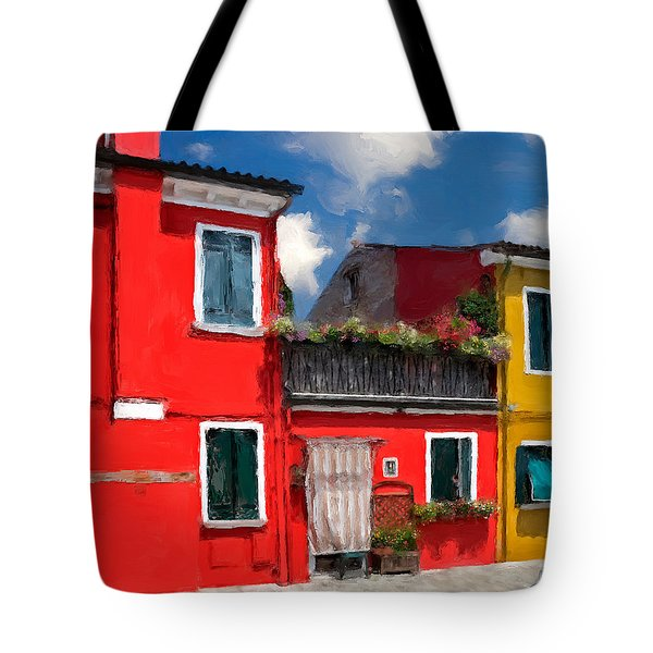 Tote Bag featuring the photograph Burano Color Houses. by Juan Carlos Ferro Duque