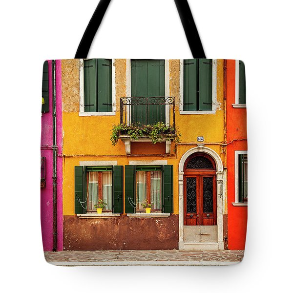 Tote Bag featuring the photograph Burano Colors by Andrew Soundarajan