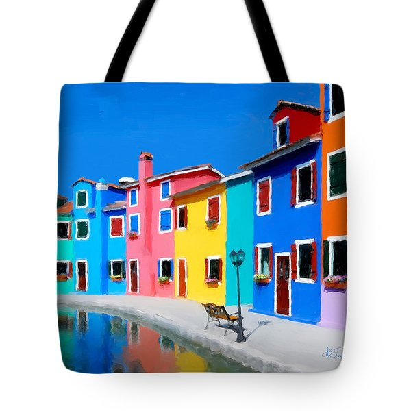 Tote Bag featuring the photograph Burano Houses.  by Juan Carlos Ferro Duque