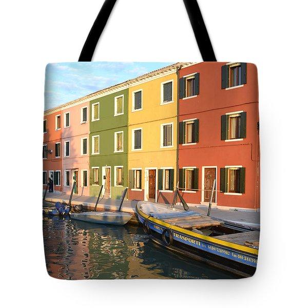 Burano Italy 1 Tote Bag by Rebecca Margraf