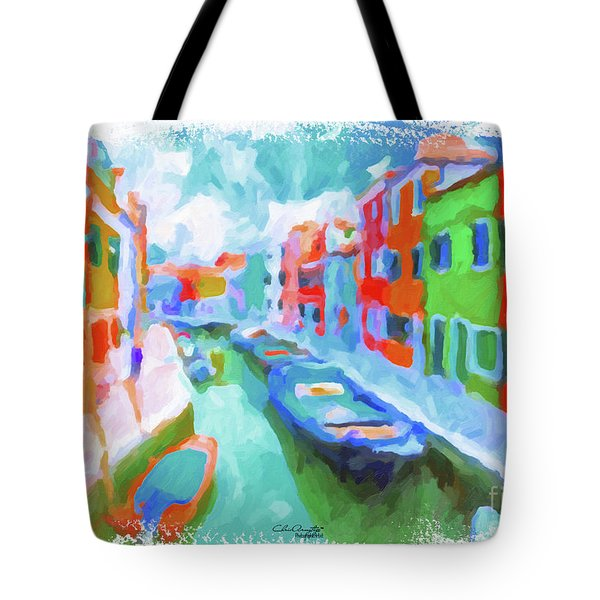Burano, Venice, Italy Tote Bag by Chris Armytage