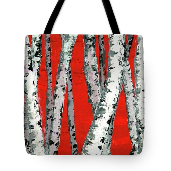 Burch On Red Tote Bag