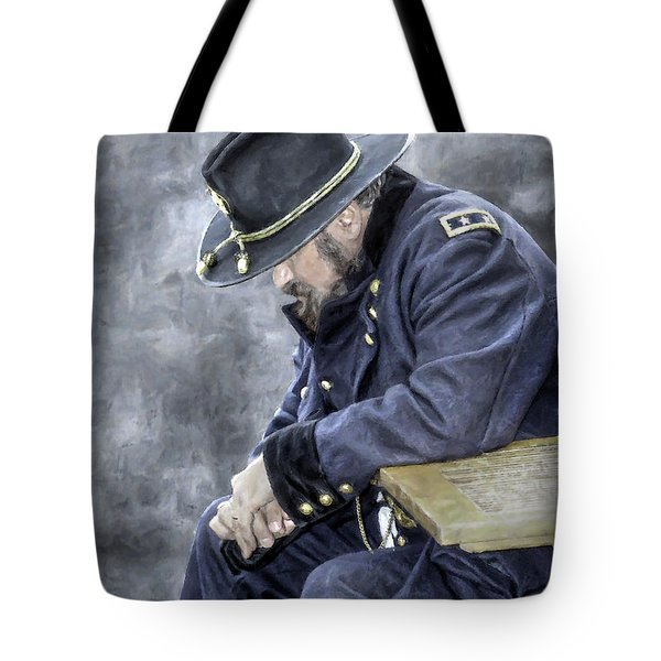 Burden Of War Civil War Union General Tote Bag
