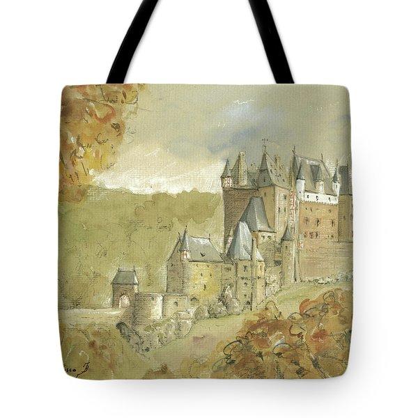 Burg Eltz Castle Tote Bag by Juan Bosco