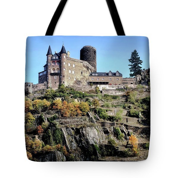 Tote Bag featuring the photograph Burg Katz - Rhine Gorge by Jim Hill