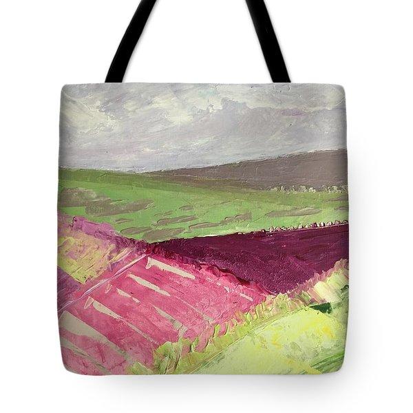 Burgundy Fields Tote Bag