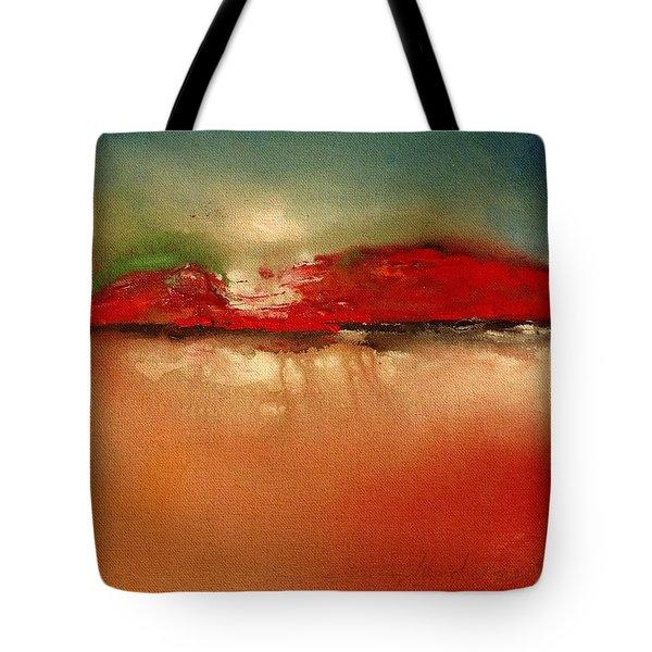 Burgundy Mountain Tote Bag