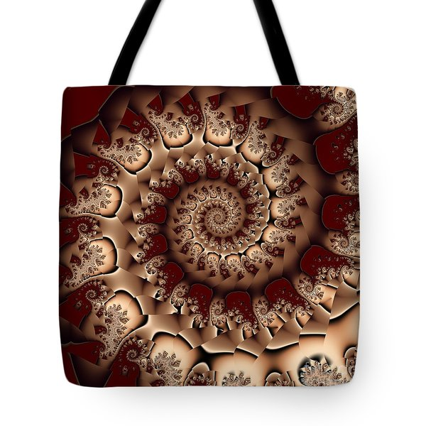 Tote Bag featuring the digital art Burgundy Royale by Michelle H