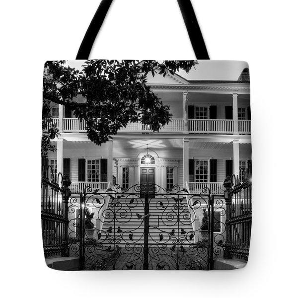 Burgwin Wright House In Black And White Tote Bag