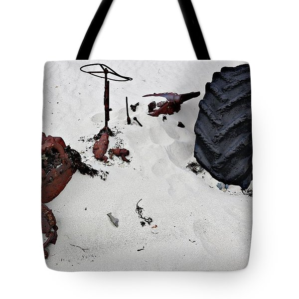 Tote Bag featuring the photograph Buried Up To The Wheels by Stephen Mitchell