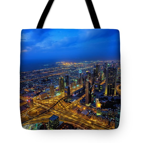 Burj Khalifa View Tote Bag