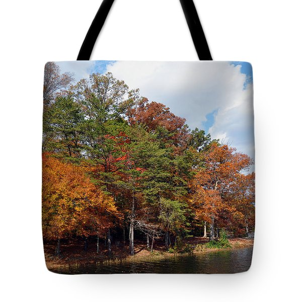 Tote Bag featuring the photograph Burke Lake Park by Gina Savage