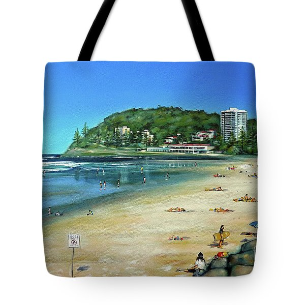 Tote Bag featuring the painting Burleigh Beach 100910 by Selena Boron