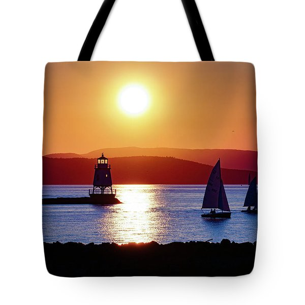 Burlington Breakwater Sunset Tote Bag