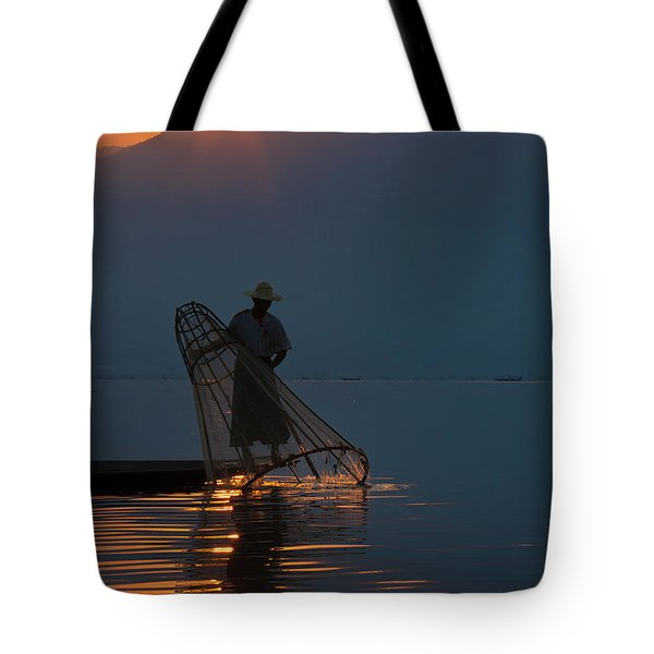 Tote Bag featuring the photograph Burma_d143 by Craig Lovell