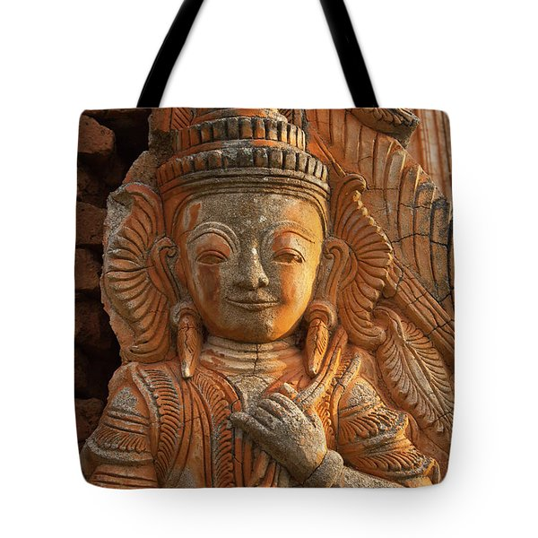 Tote Bag featuring the photograph Burma_d187 by Craig Lovell