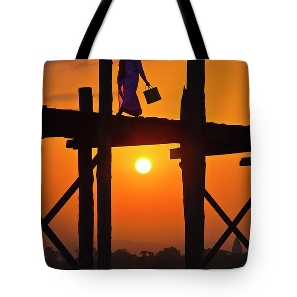 Tote Bag featuring the photograph Burma_d807 by Craig Lovell