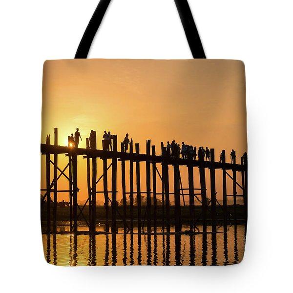 Burmese Sunset Tote Bag