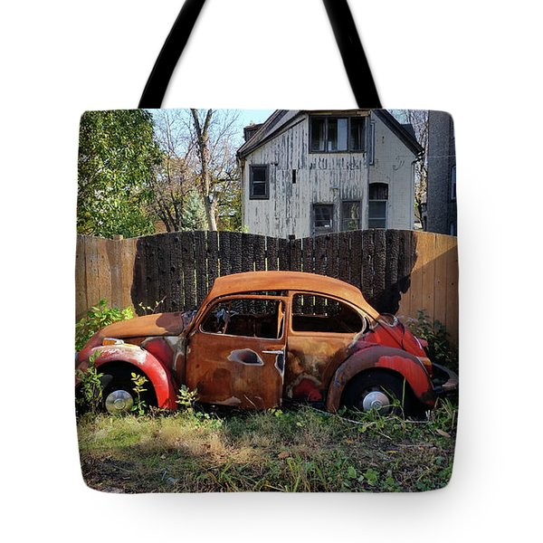 Burned Bug V Tote Bag