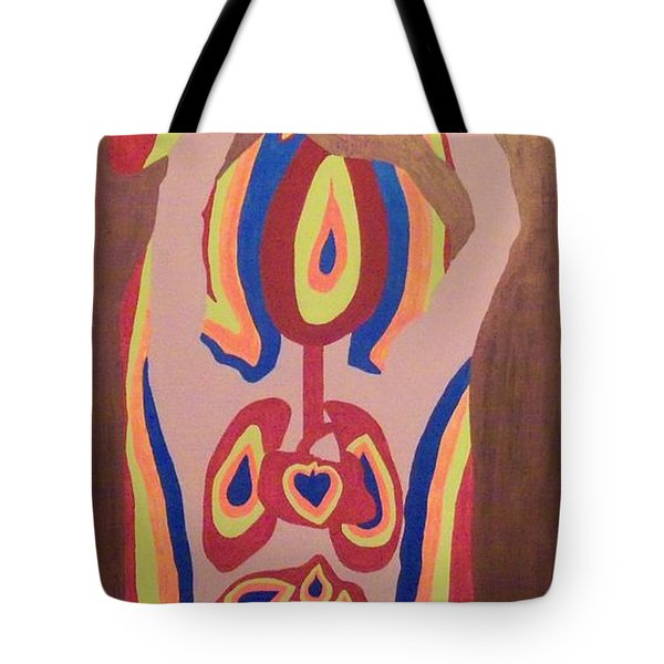 Tote Bag featuring the painting Burned by Erika Chamberlin