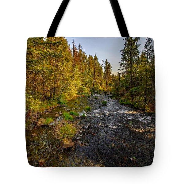 Burney Falls Hdr Tote Bag