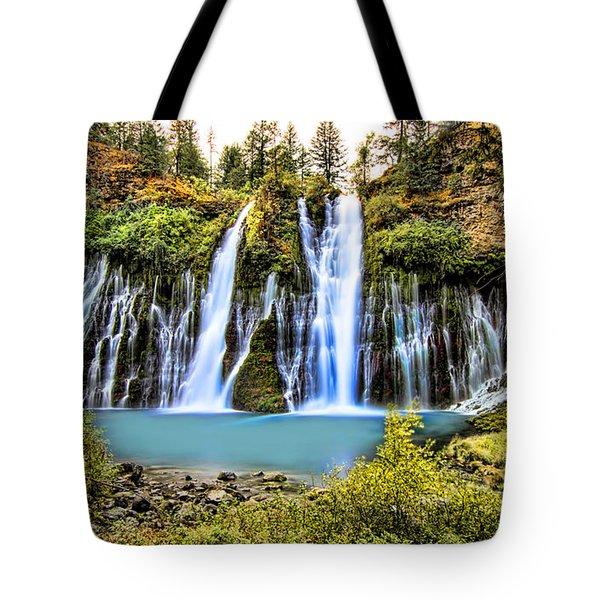 Burney Falls Tote Bag by Jason Abando