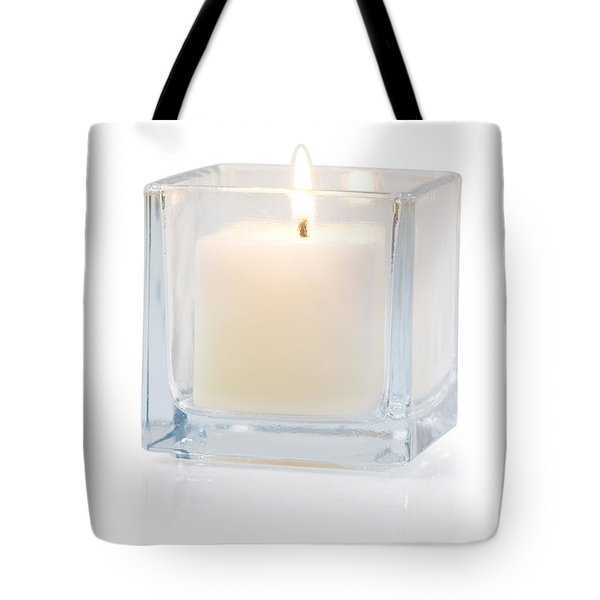Burning Candle Side View 20 Degree Tote Bag