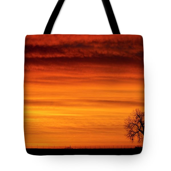 Burning Country Sky Tote Bag by James BO  Insogna