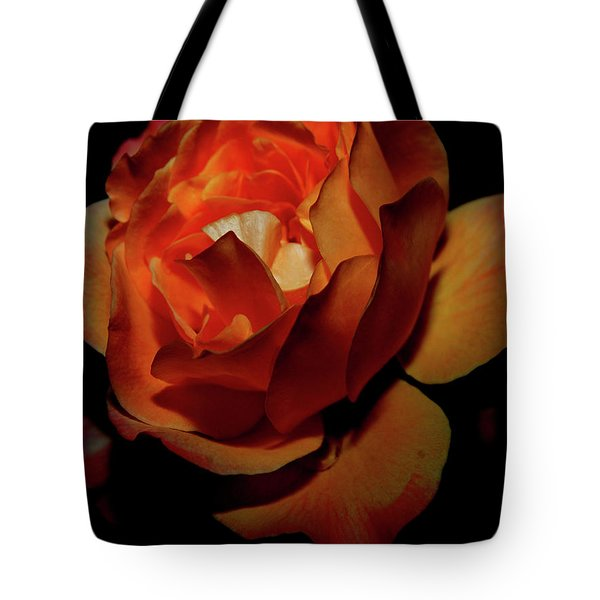 Burning Ember Rose Tote Bag