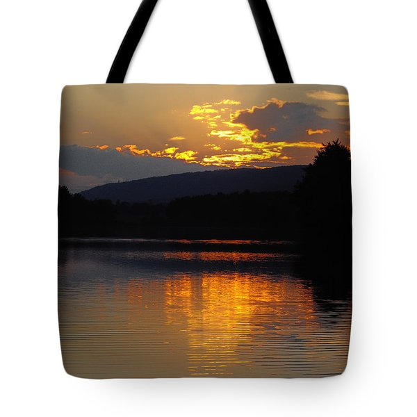 Tote Bag featuring the photograph Burning Gold by Vilas Malankar
