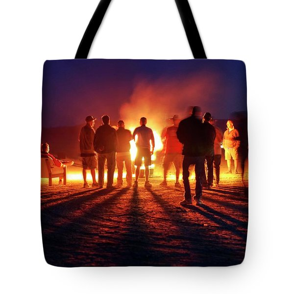 Tote Bag featuring the photograph Burning Grains Of Rocket Fuel by Peter Thoeny