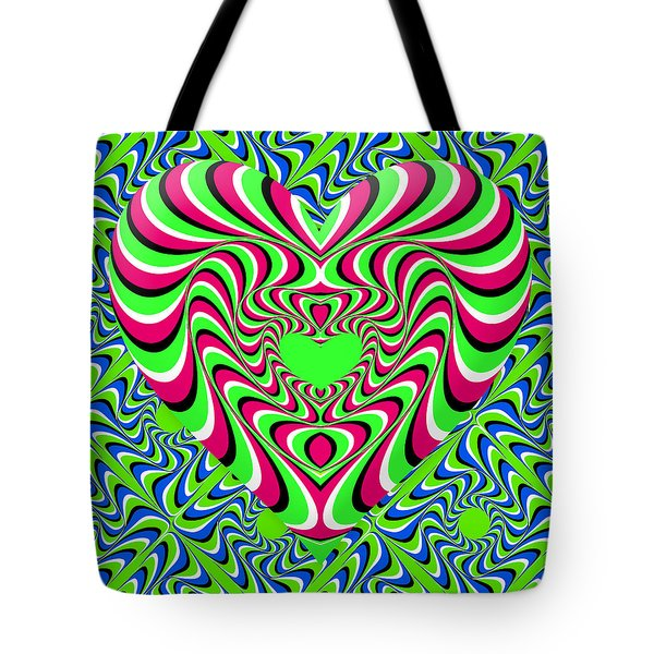 Burning Heart Tote Bag