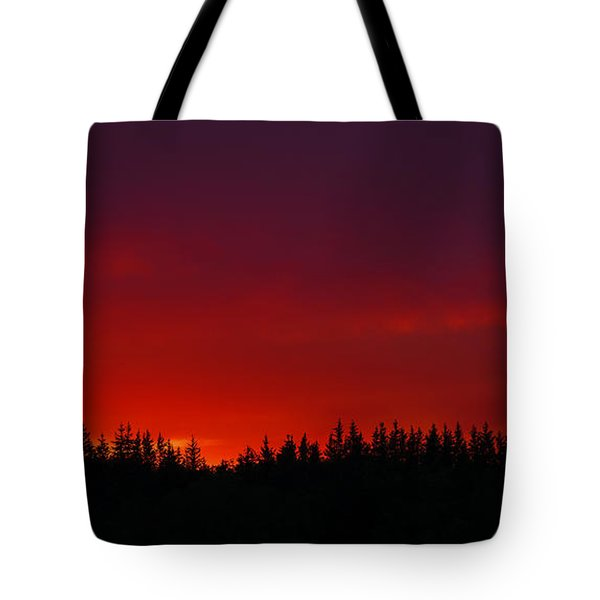 Burning In The Sky Tote Bag