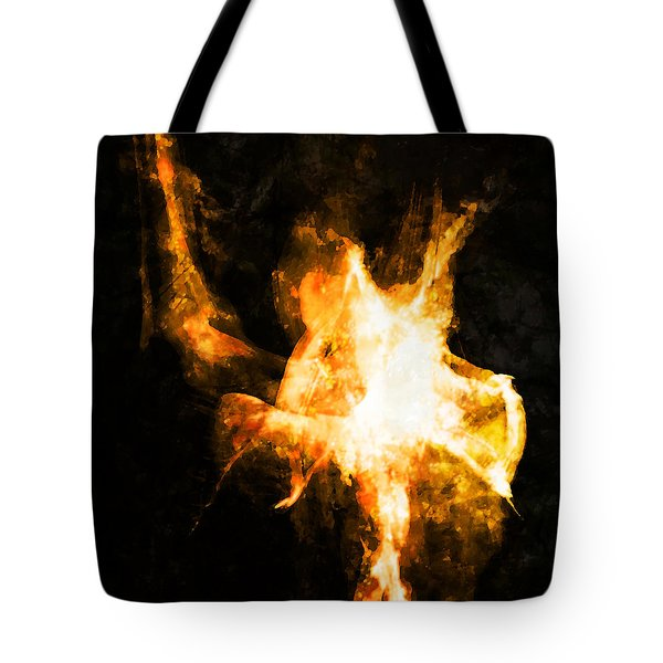 Tote Bag featuring the photograph Burning Man by Ken Walker