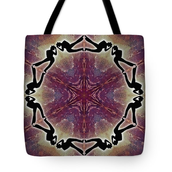 Tote Bag featuring the digital art Burning Movement by Derek Gedney