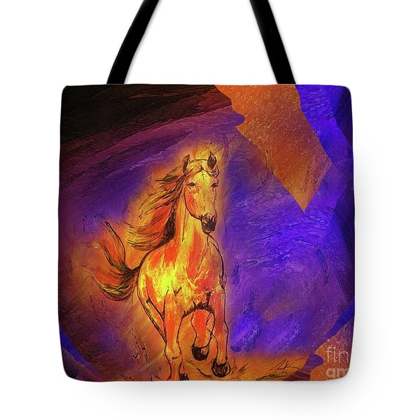 Tote Bag featuring the painting Burning One by Jennifer Page
