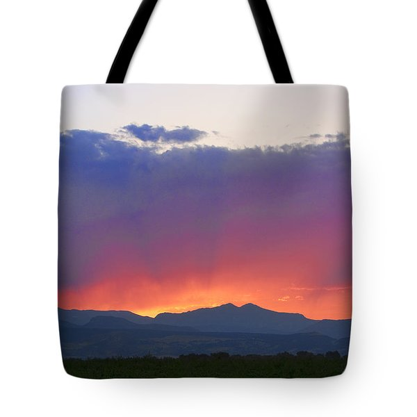 Burning Rays Of Sunset Tote Bag by James BO  Insogna