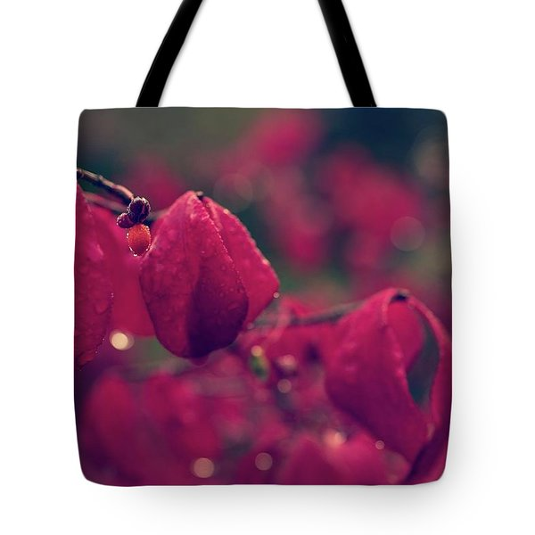 Burning Red Tote Bag
