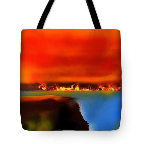 Burning Shore Tote Bag