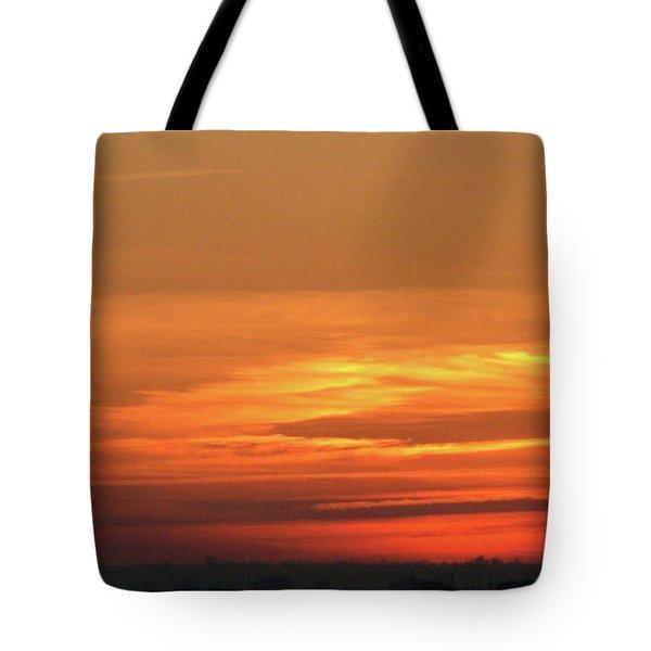 Burning Sunset Tote Bag