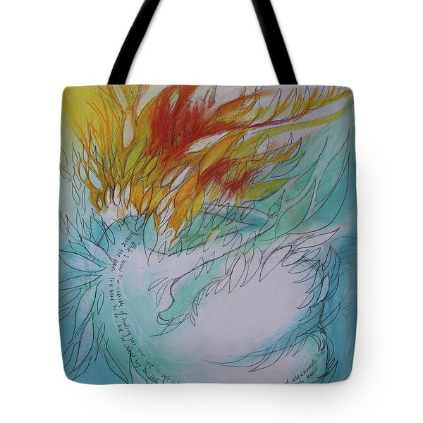 Burning Thoughts Tote Bag