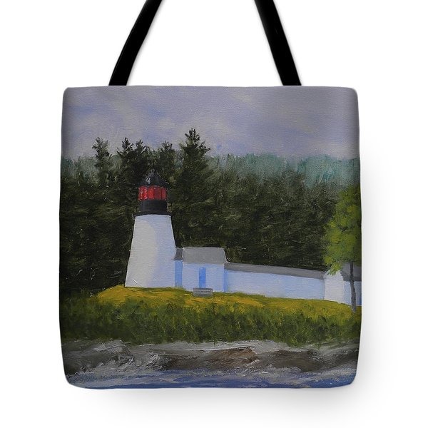 Burnt Island Light Tote Bag