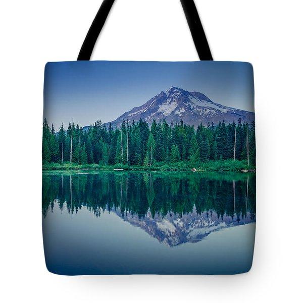 Burnt Lake Reflection Tote Bag