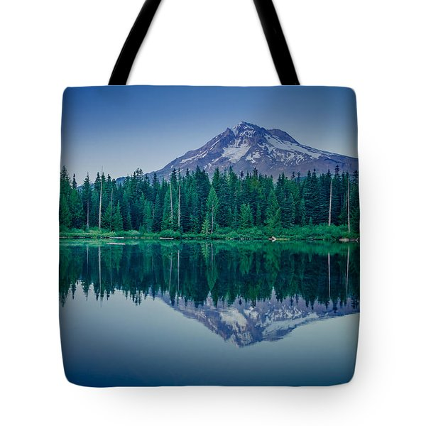 Burnt Lake Reflection Tote Bag