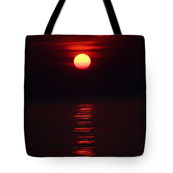 Burnt Orange Sunrise Tote Bag