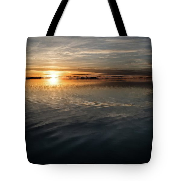 Burnt Reflection Tote Bag by Justin Johnson