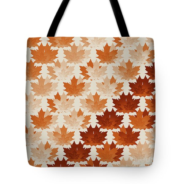 Burnt Sienna Autumn Leaves Tote Bag by Methune Hively